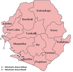 distrikter i sierra leone