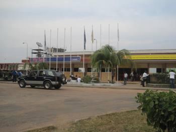 flyplassen i Sierra Leone som du kommer til når du skal besøke ditt fadderbarn